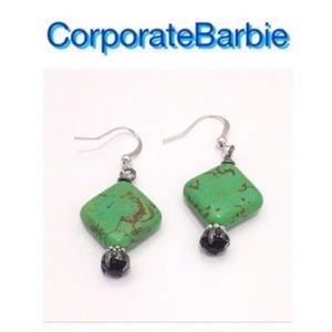 Jewelry - Pretty Green Handmade Earrings